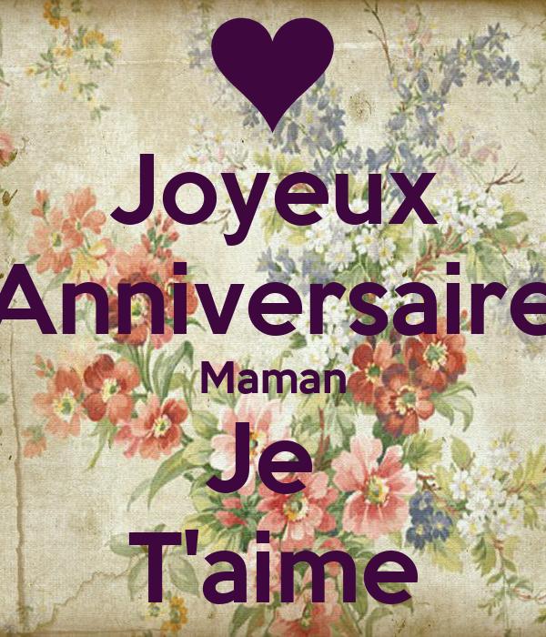 Joyeux Anniversaire Maman Je Taime Poster Lea Keep Calm