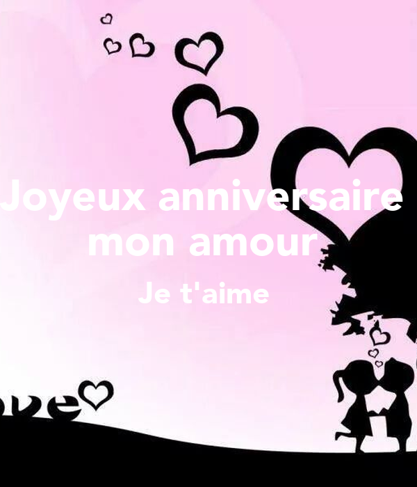 Joyeux Anniversaire Mon Amour Je Taime Poster