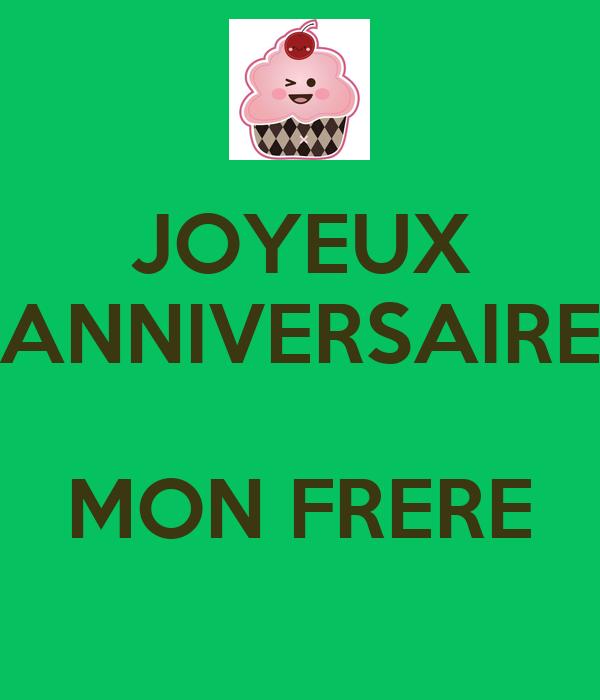 Joyeux Anniversaire Mon Frere Poster Moumounetahiti Keep