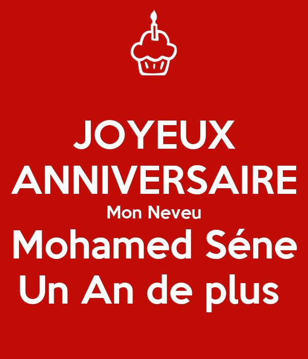 Joyeux Anniversaire Mon Neveu Mohamed Sene Un An De Plus Poster