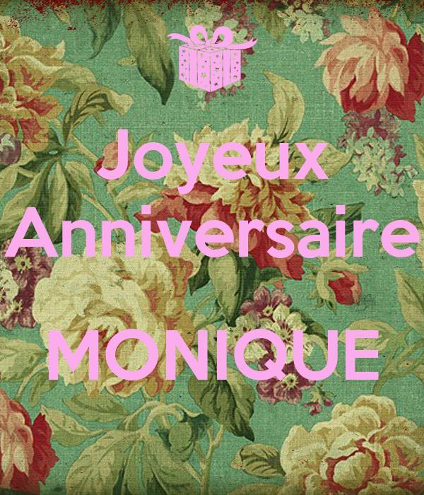 Joyeux Anniversaire Monique Poster P Keep Calm O Matic