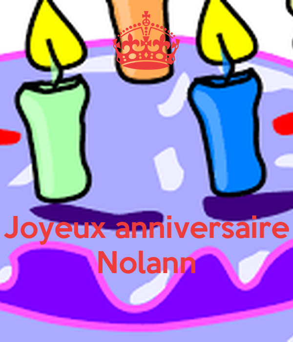 Joyeux Anniversaire Nolann Poster Carmen Keep Calm O Matic