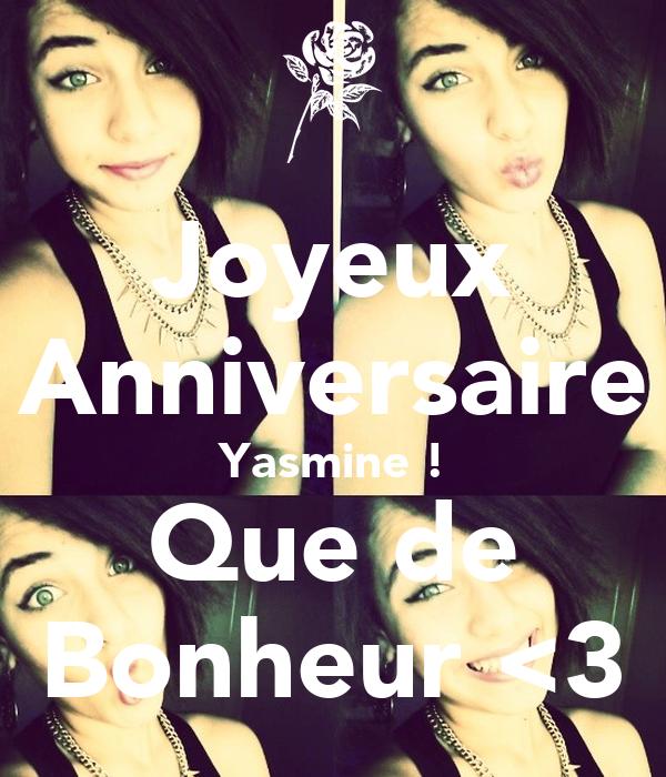 Joyeux Anniversaire Yasmine Que De Bonheur 3 Poster Hela Keep