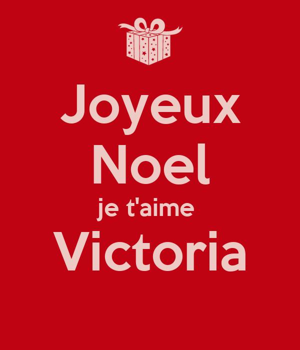 Joyeux Noel Je Taime Victoria Poster Bastien Keep Calm