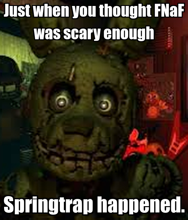 fnaf how to make it not scary