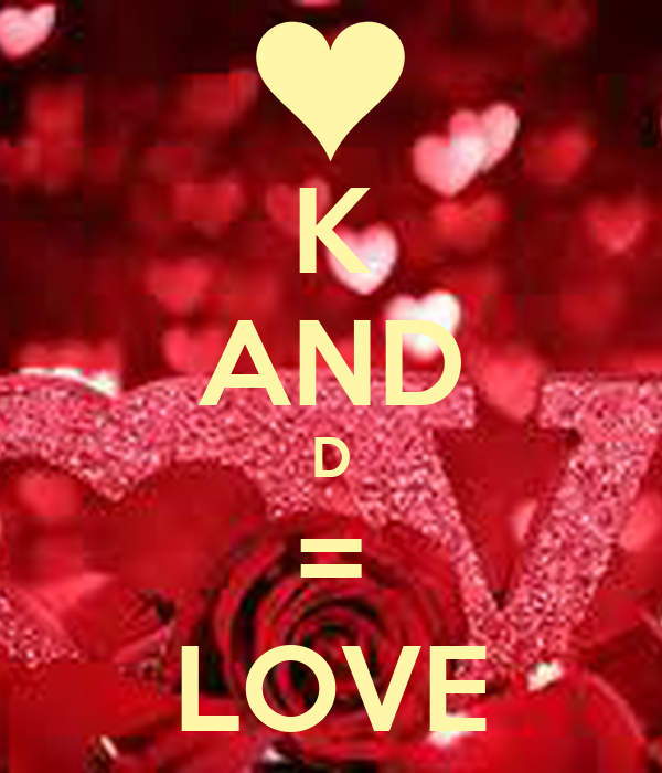 K And D Love Poster Deshawn Keep Calm O Matic