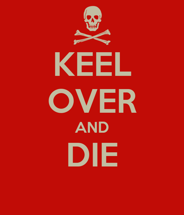 KEEL OVER AND DIE Poster | RYAN LOCKETT | Keep Calm-o-Matic