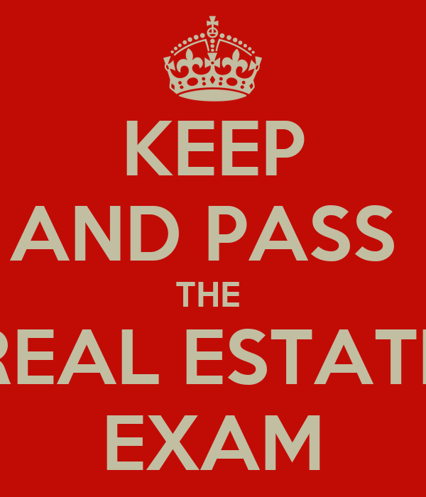 KEEP AND PASS THE REAL ESTATE EXAM Poster | EMMA | Keep Calm