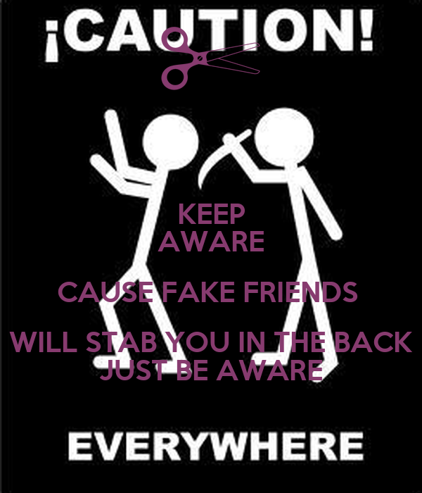 Keep Aware Cause Fake Friends Will Stab You In The Back Just Be
