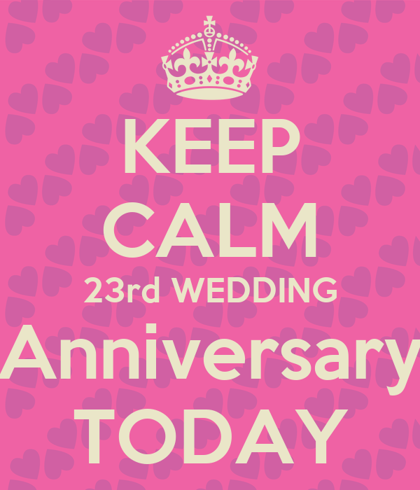 Keep calm rd wedding anniversary today poster levy