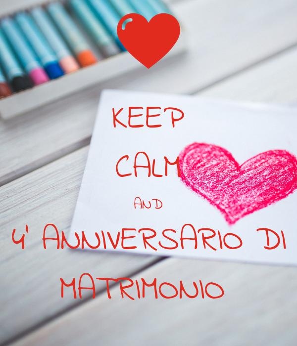 Anniversario Di Matrimonio 4 Anni.Keep Calm And 4 Anniversario Di Matrimonio Poster Max Lella