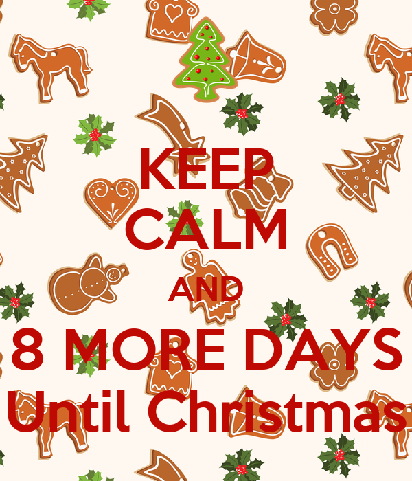 DAYS Until Christmas Poster