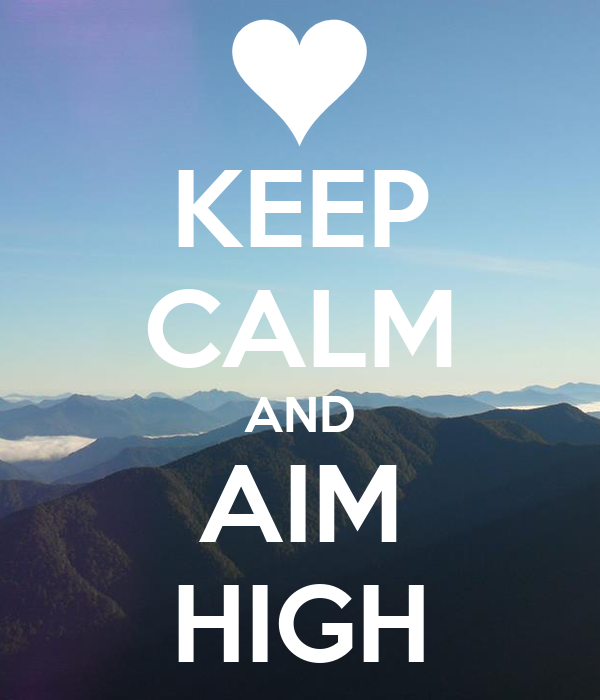 Aim High iPhone wallpaper - The Rivertown Inkery