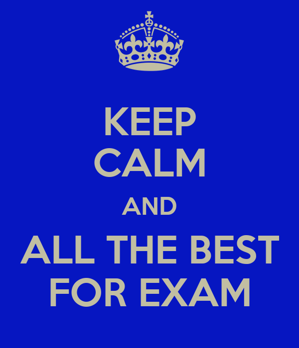 Exambest: KEEP CALM AND ALL THE BEST FOR EXAM Poster