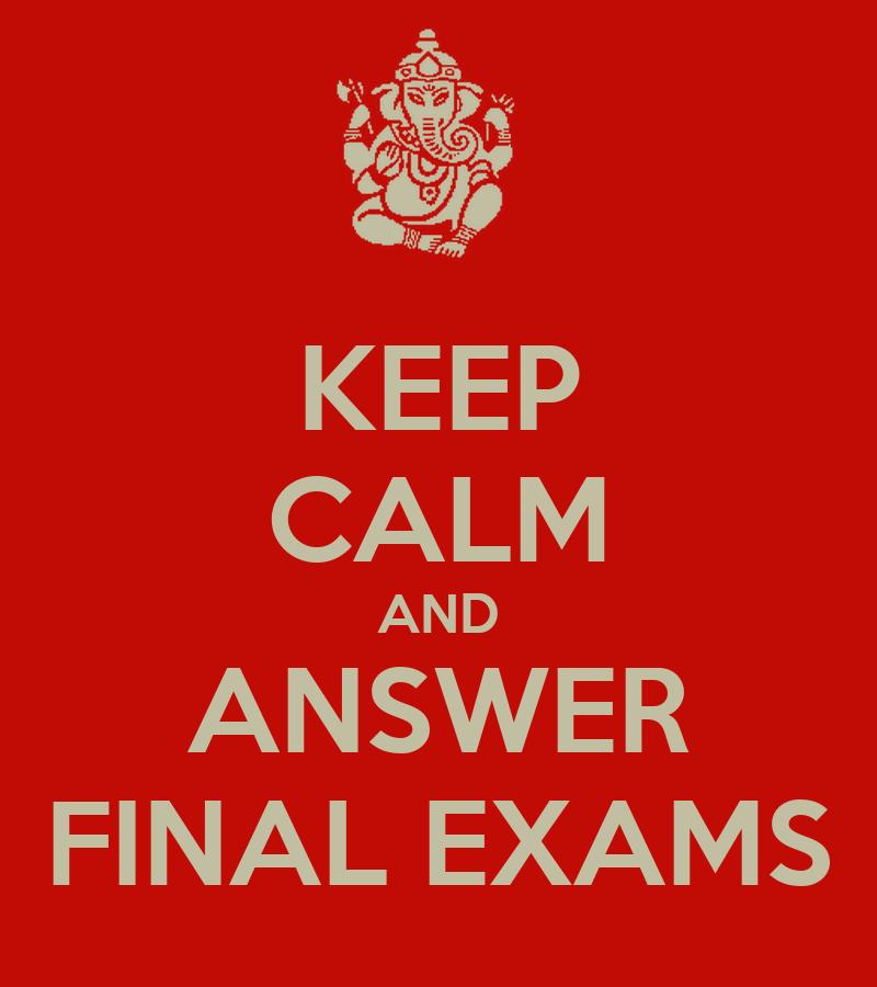 keep calm final exam Quotes