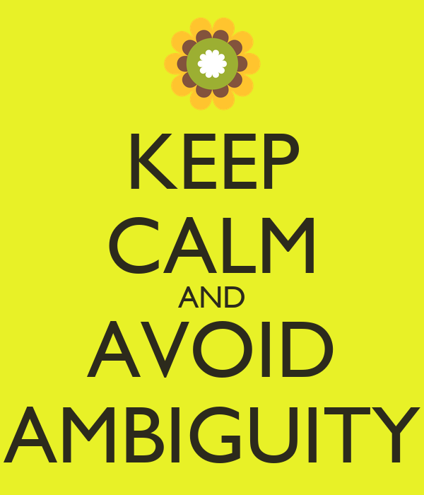 Image result for Avoid ambiguity