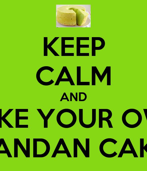 How To Bake Pandan Cake