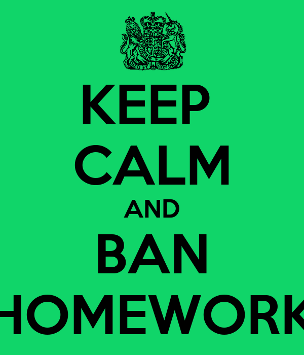 essay on why homework should be banned