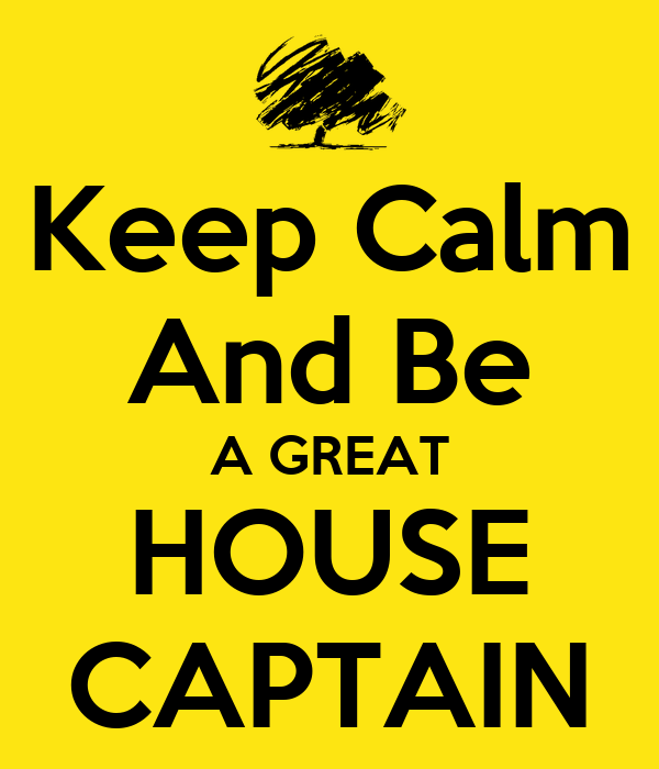 how to write a house captain