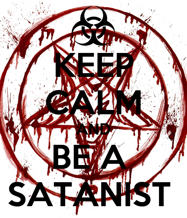 KEEP CALM AND BE A SATANIST Poster | Pac