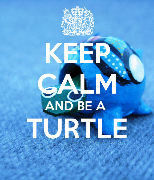 KEEP CALM AND BE A TURTLE - KEEP CALM AND CARRY ON Image Generator