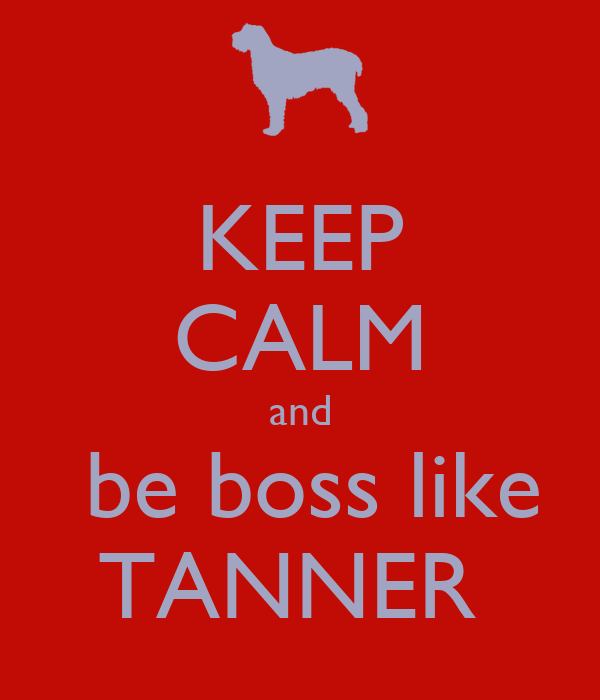 KEEP CALM And Be Boss Like TANNER Poster