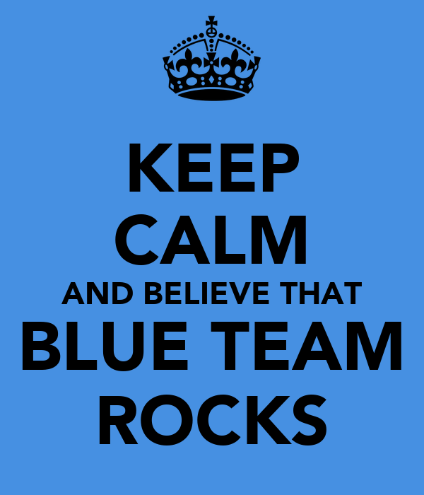 Keep Calm And Believe That Blue Team Rocks Poster