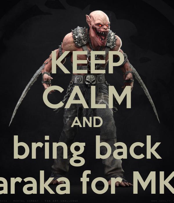 Keep Calm And Bring Back Baraka For Mkx Poster Myles Osborne