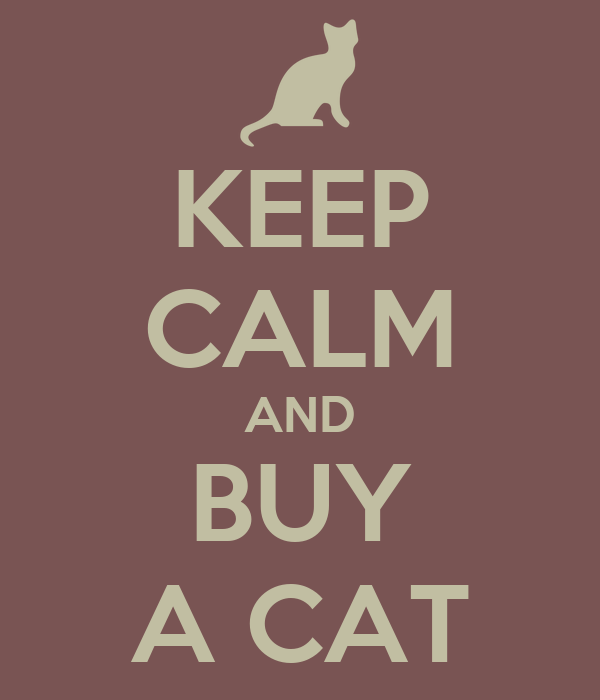 keep calm and buy a cat keep calm and carry on image generator buy a cat 600x700