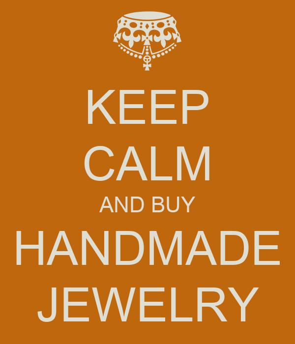 keep calm and buy handmade jewelry poster costas keep