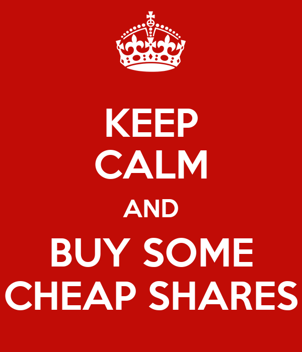 Keep calm and buy some cheap shares poster tomboorman for Buy posters online cheap