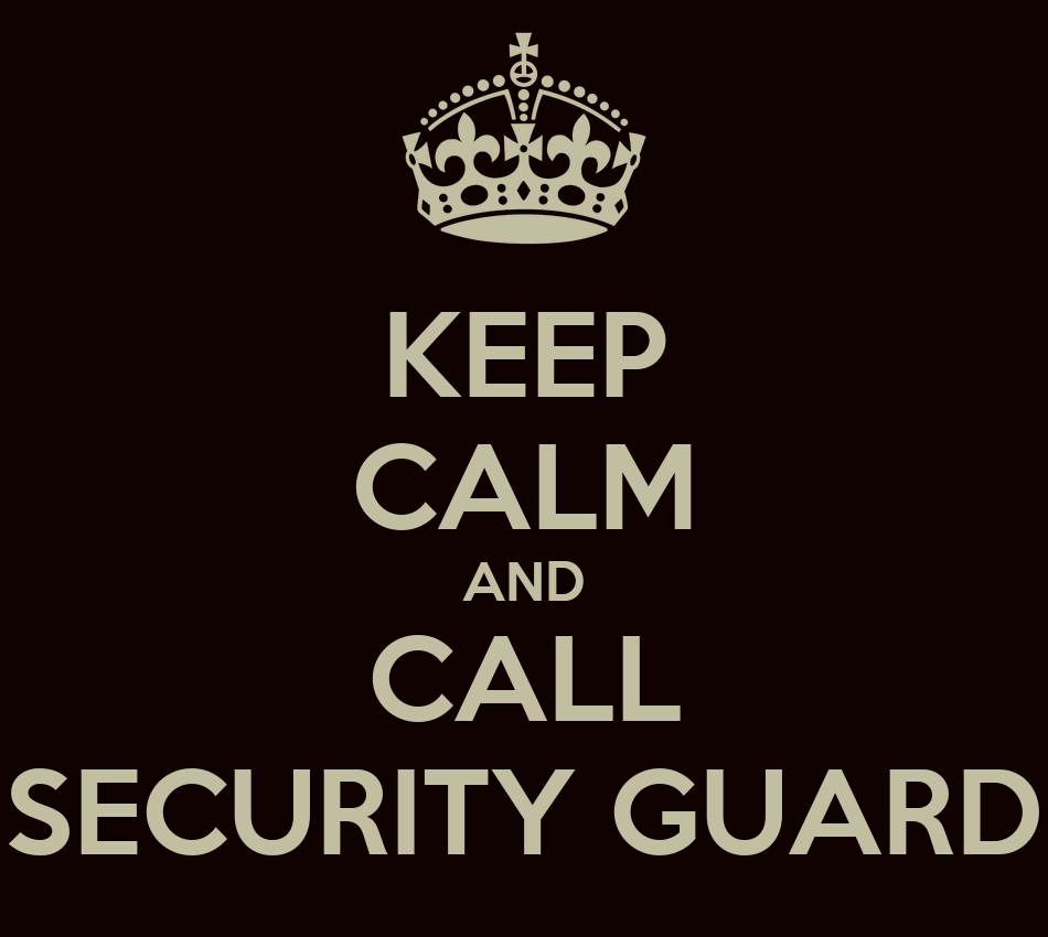 Security Guard Personalised Keep Calm Keyring