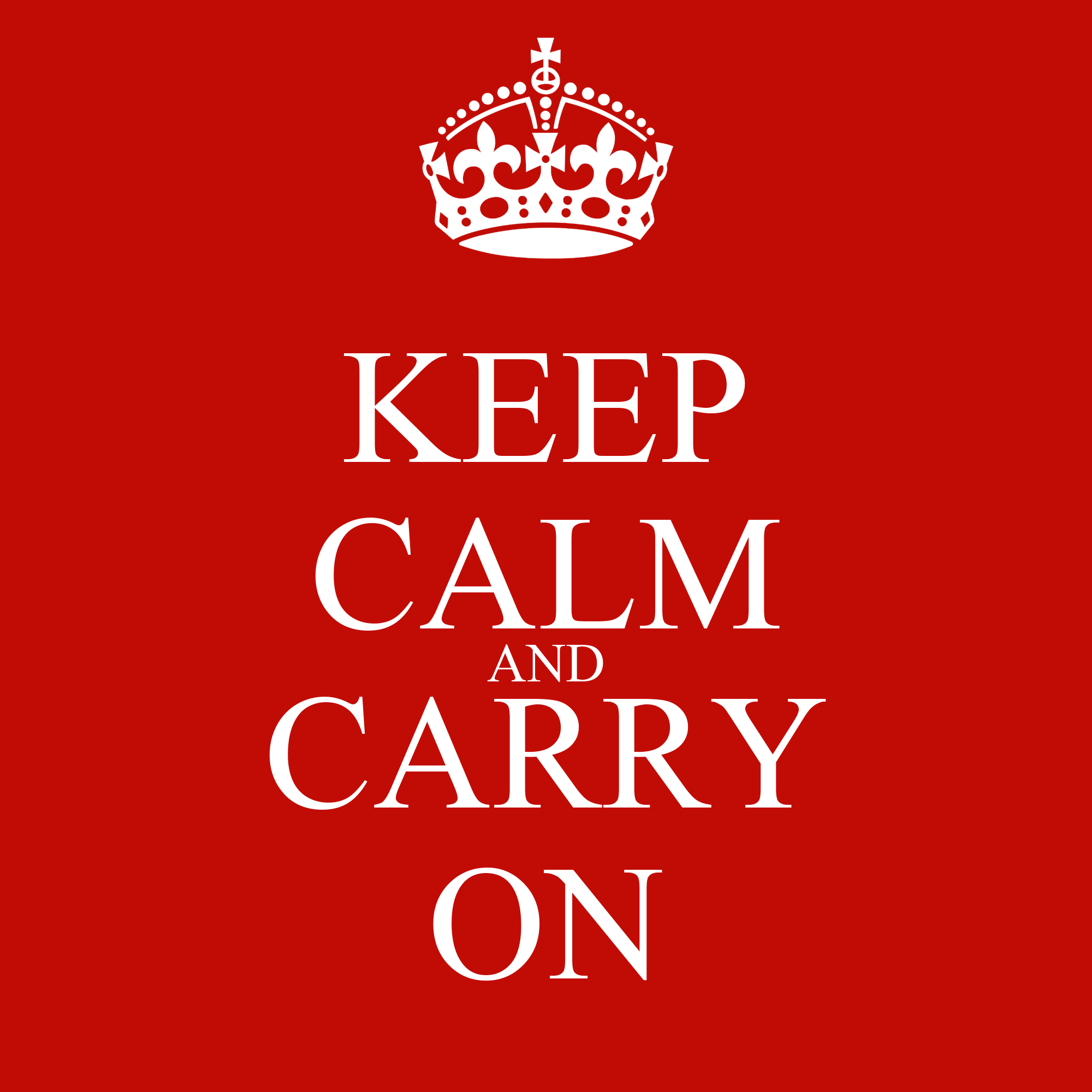 Wall Stickers Childrens Keep Calm And Carry On Keep Calm And Carry On Image
