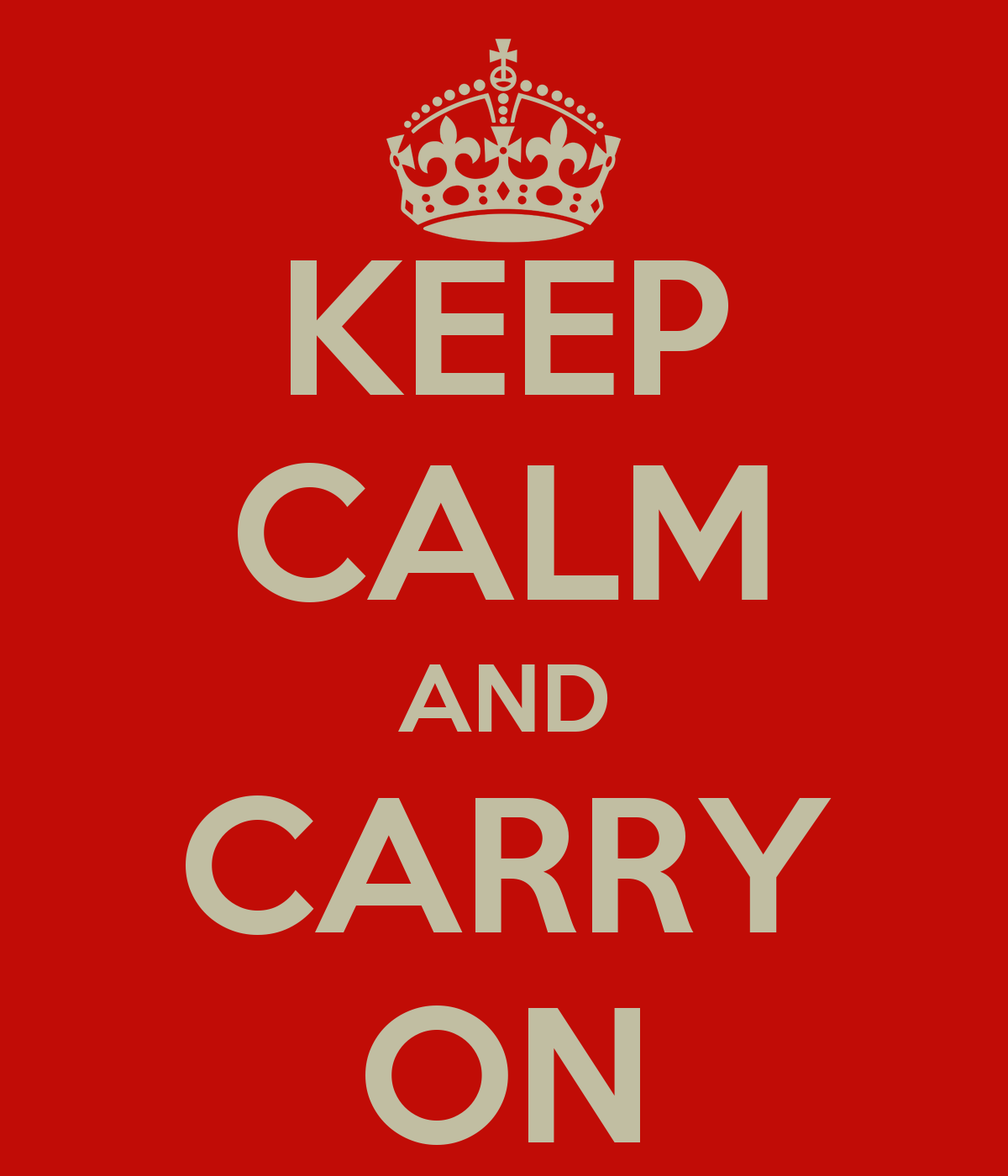 keep calm and carry on poster glenys keep calm o matic. Black Bedroom Furniture Sets. Home Design Ideas