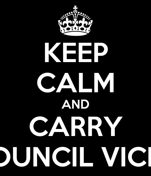 KEEP CALM AND CARRY STUDENT COUNCIL VICE PRESIDENT Poster ...