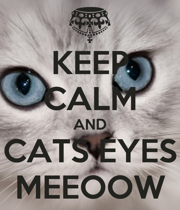Cover Cats Eyes To Keep Calm