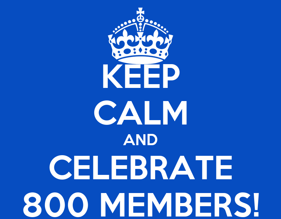 keep calm and celebrate 800 members poster wei chiang keep calm