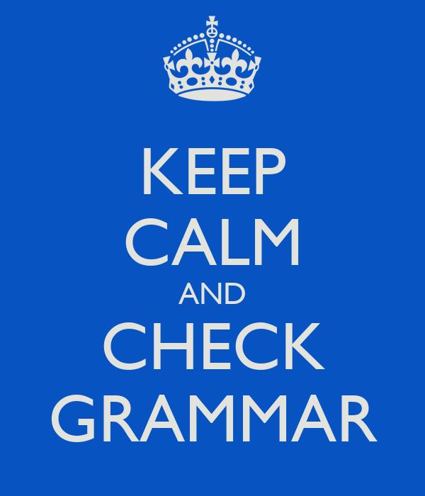 Grammar chcek