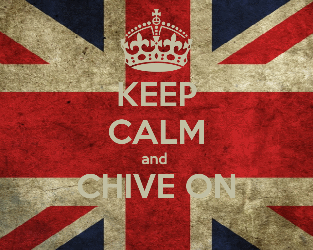 KEEP CALM and CHIVE ON Poster | l | Keep Calm-o-Matic