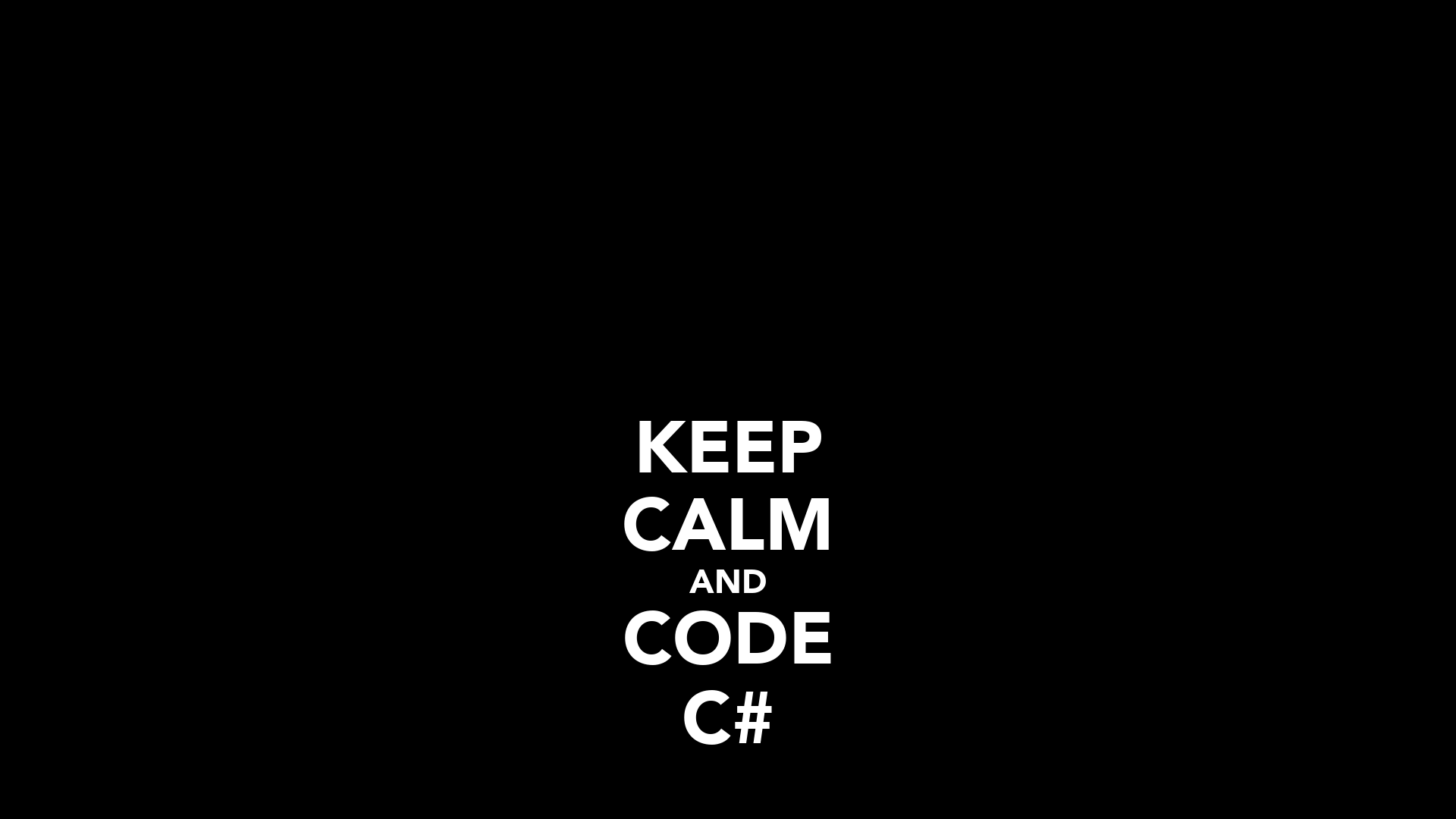 KEEP CALM AND CODE C# Poster