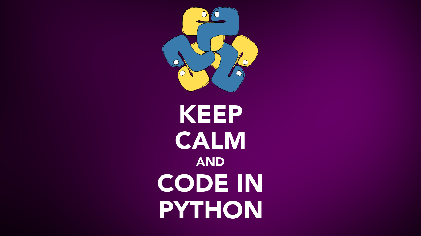 KEEP CALM AND CODE IN PYTHON Poster