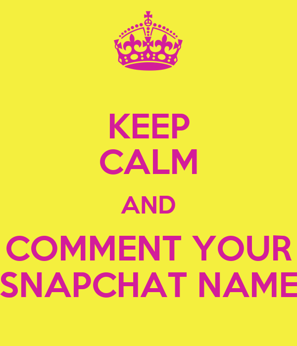 drop your snapchat name