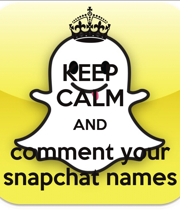 Comment Your Snapchat Name