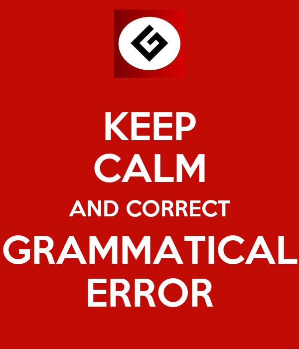 How to correct grammatical errors