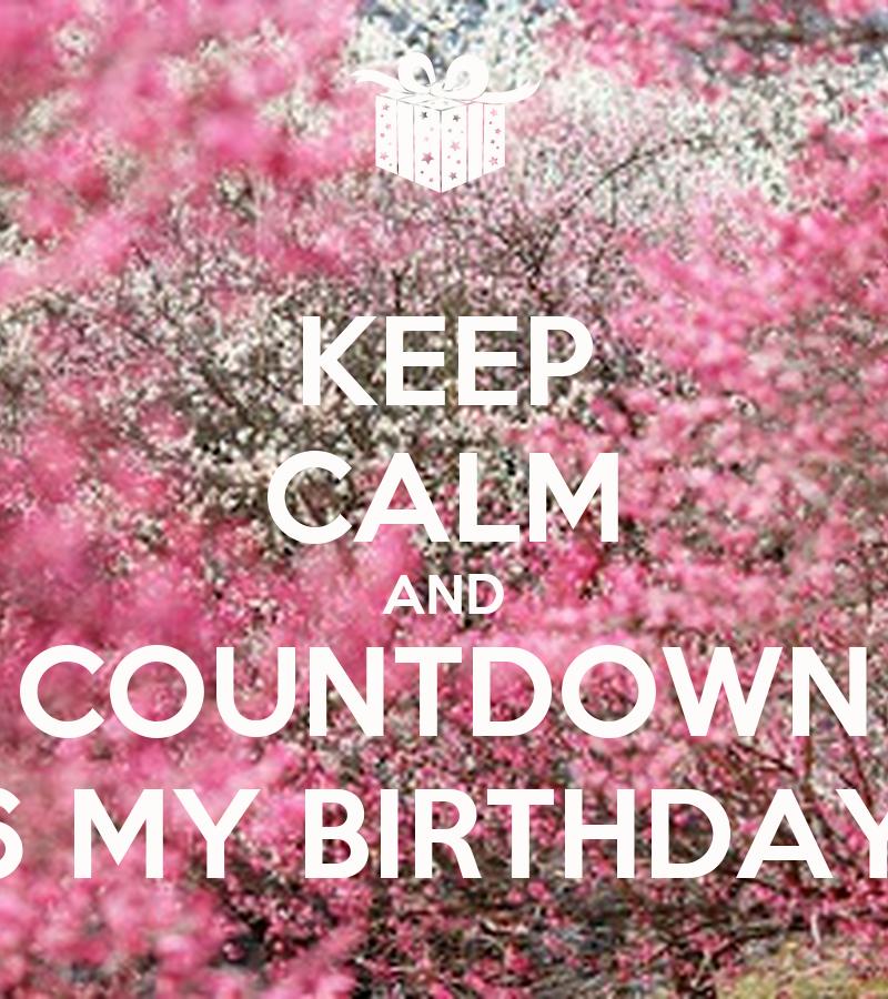 Keep calm and countdown 6 my birthday keep calm and carry on image generator - Birthday countdown wallpaper ...