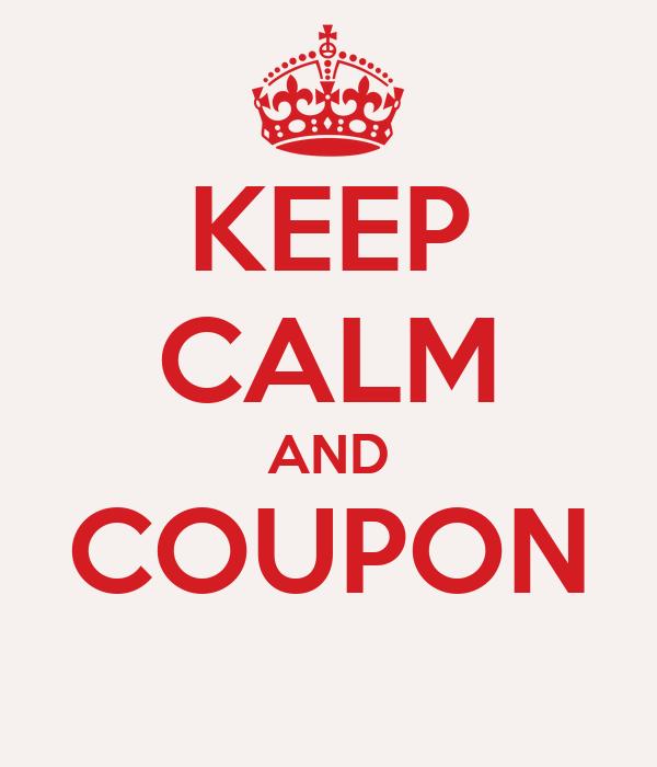 Keep Calm and Coupon