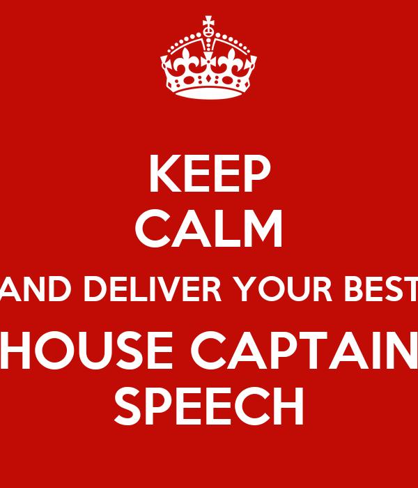 captain speech