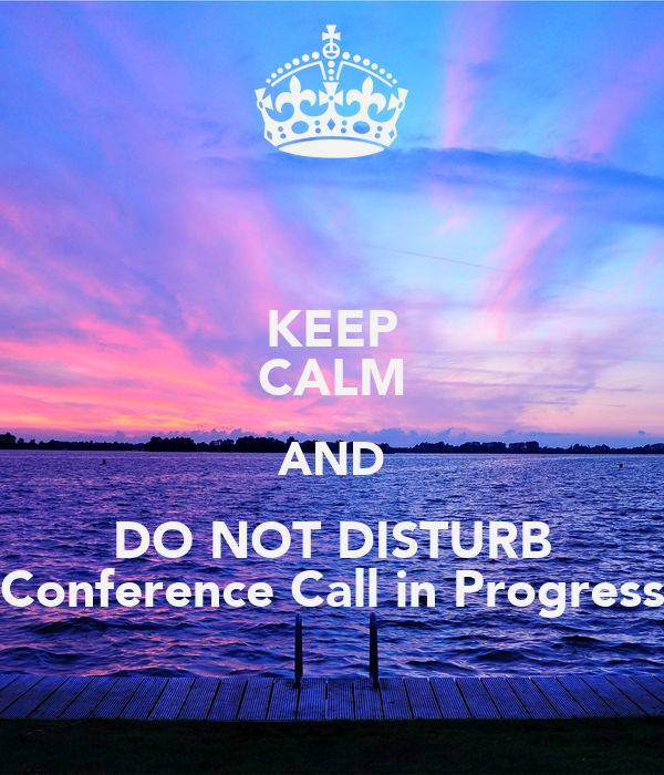 how to take call on conference