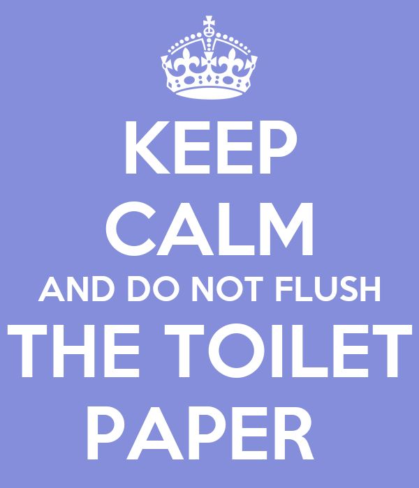Keep calm and do not flush the toilet paper poster dfsg keep calm o matic - Commode not flushing completely ...