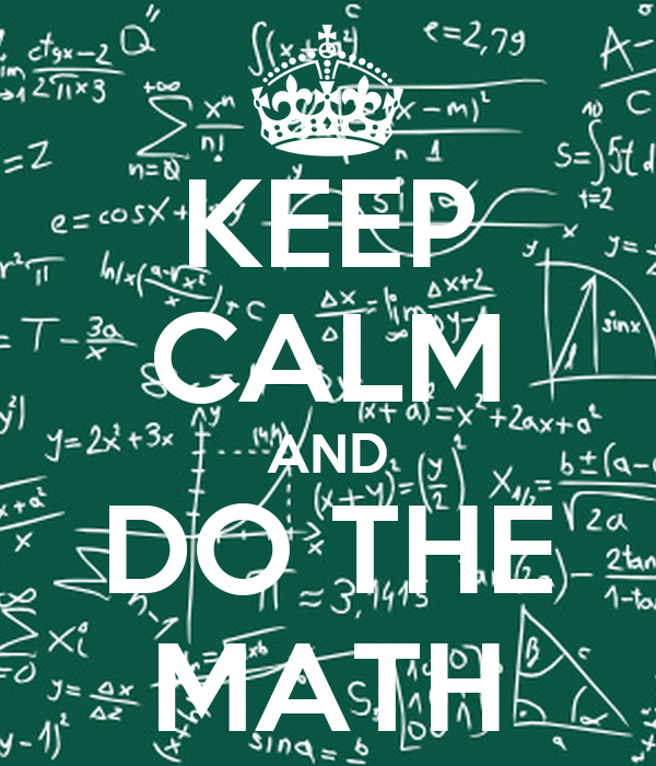 Keep calm and do math car tuning